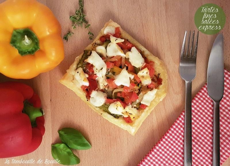 recette-tarte-fine-poivrons-mozzarella