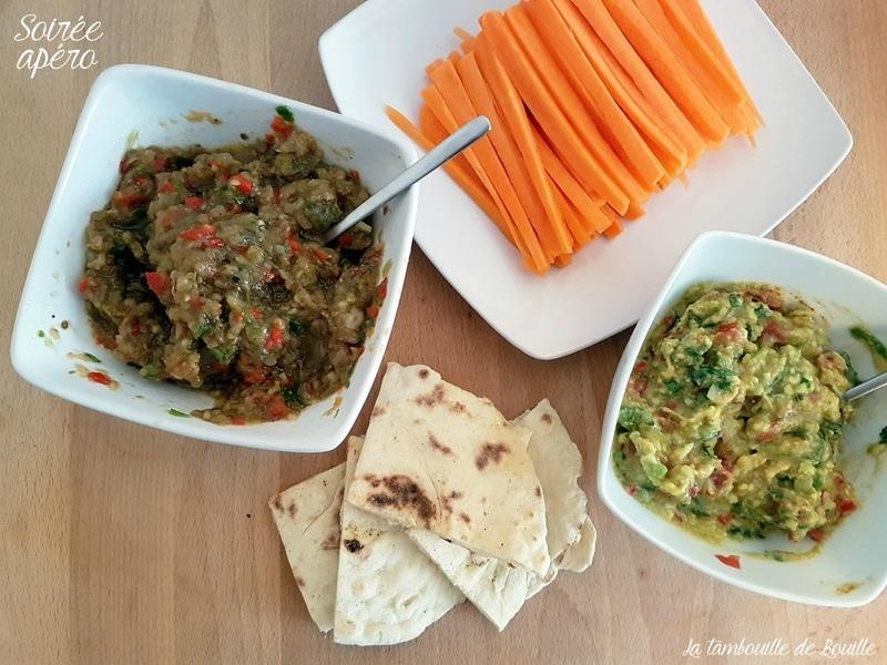 soirée-apéro-guacamole-rougail-aubergine