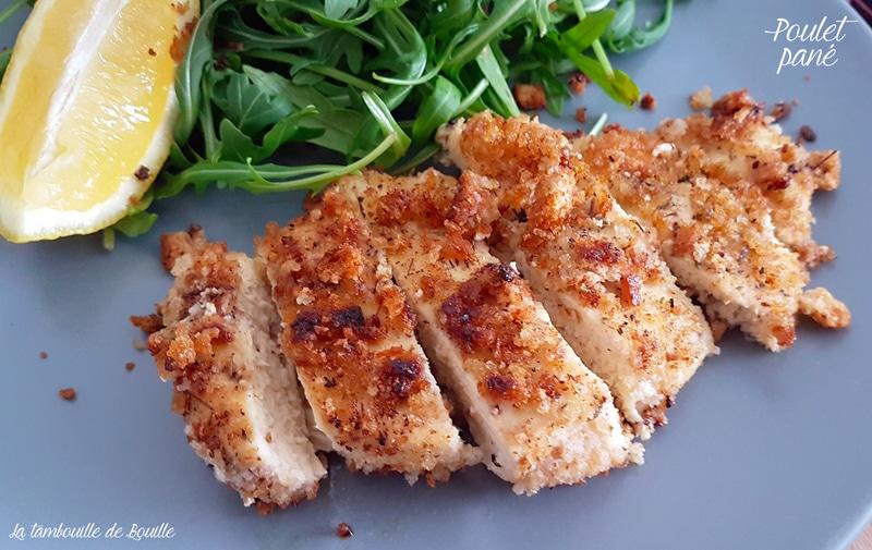 utiliser-pain-poulet-pané-ail