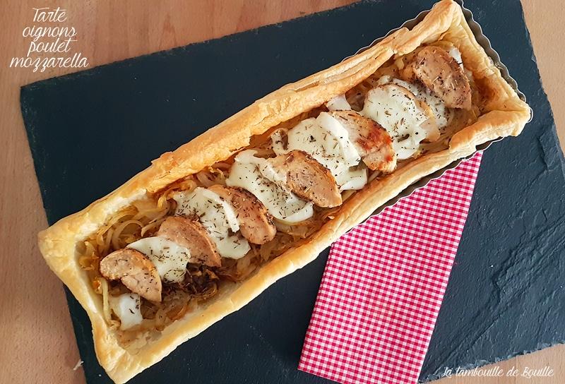 tarte-salée-oignons-poulet-mozzarella