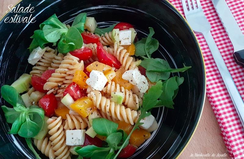salade-estivale-feta-tomate-poivron-mâche